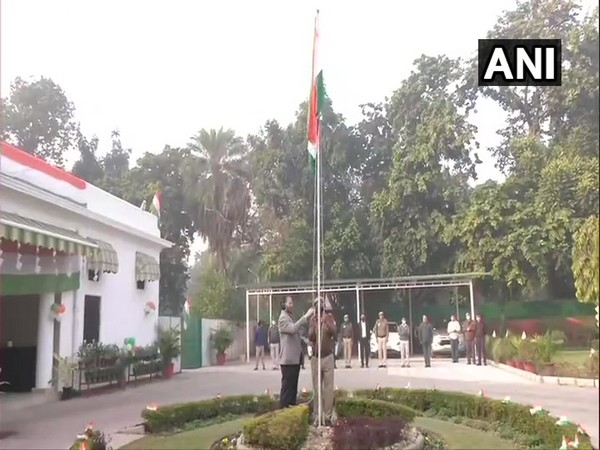 Union Information and Broadcasting Minister Prakash Javadekar on Tuesday unfurled the tricolour at his official residence