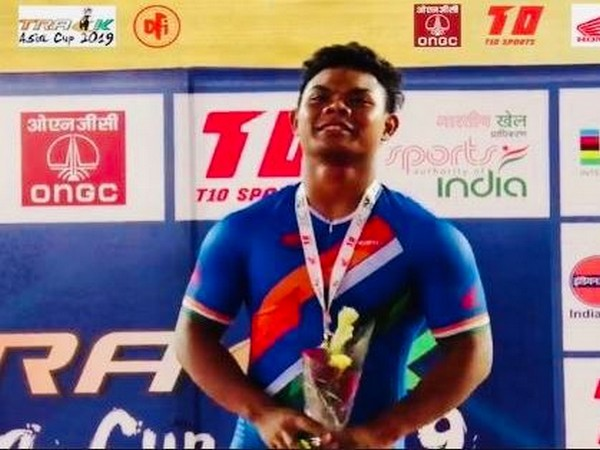 Indian cyclist Esow Alben (Photo/ SAIMedia Twitter)