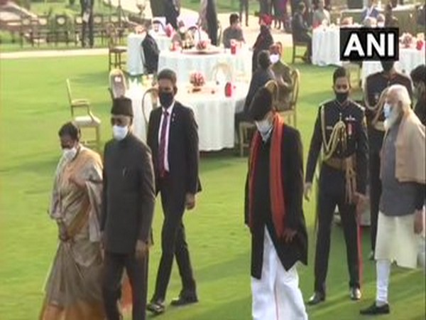 """President Ram Nath Kovind hosted """"At Home"""" reception in the President House on Tuesday (Photo/ANI)"""