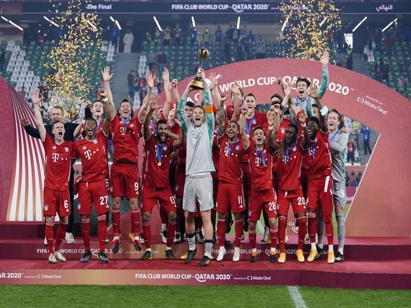 Bayern Munich players after the victory. (Photo/ Robert Lewandowski Twitter)