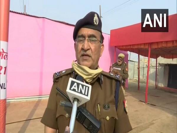 Prayagraj Inspector General, KP Singh speaking to ANI {Photo/ANI)