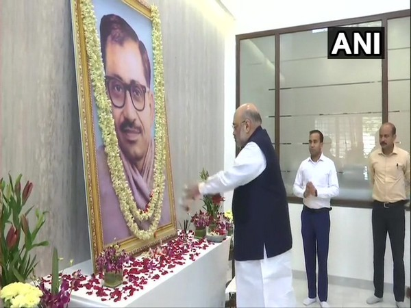 Union Home Minister Amit Shah paid floral tribute to Deendayal Upadhyaya in Guwahati