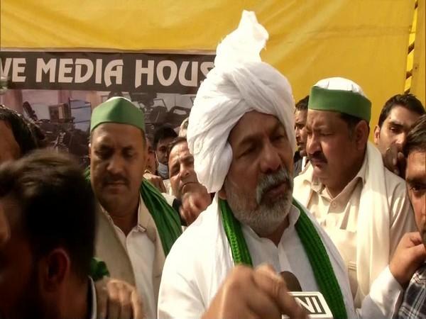 Bharatiya Kisan Union leader Rakesh Tikait speaking to ANI on Sunday, (Photo/ANI)