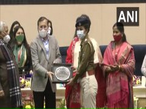 Union Minister Prakash Javadekar felicitated women COVID-19 warriors at the 29th Foundation Day of the National Commission for Women. (Photo/ANI)
