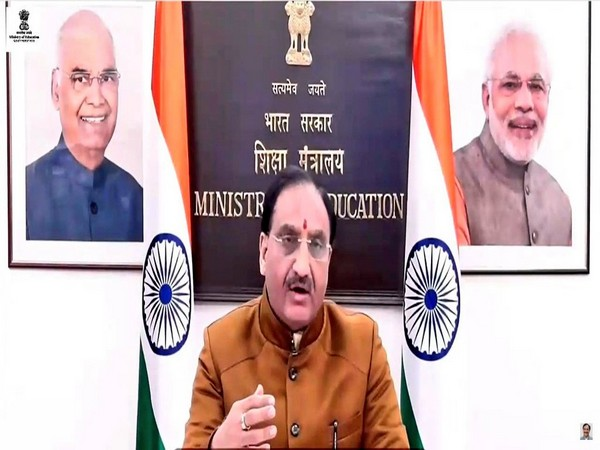 Union Education Minister Ramesh Pokhriyal 'Nishank' speaking during the inaugural ceremony of ASIAN-INDIA Hackathon. (Twitter/Ramesh Pokhriyal 'Nishank')