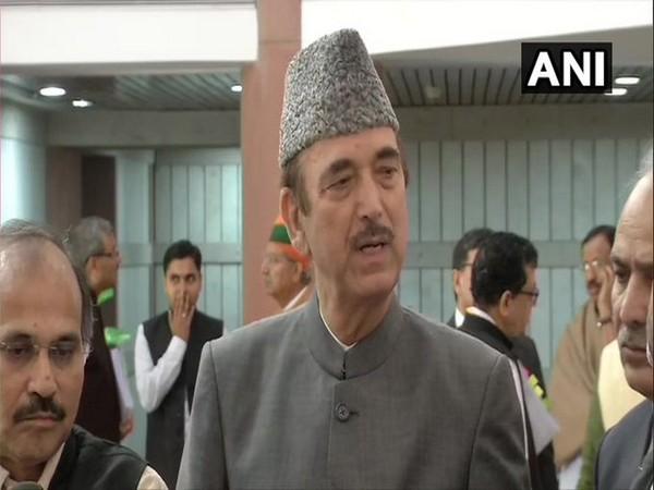 Leader of Opposition in Rajya Sabha Ghulam Nabi Azad (Photo/ANI)