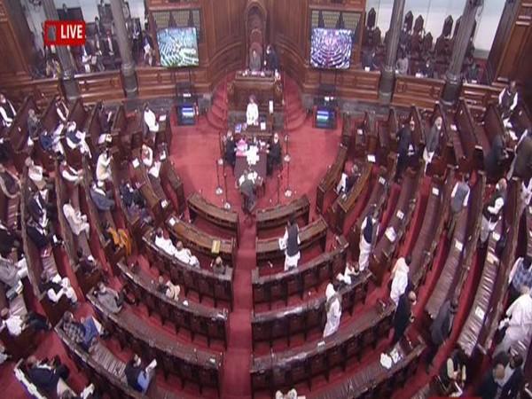 Visual from Rajya Sabha