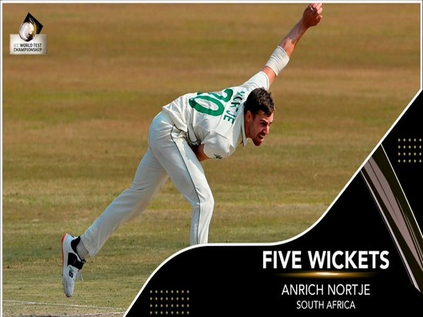Proteas pacer Anrich Nortje (Photo/ ICC Twitter)