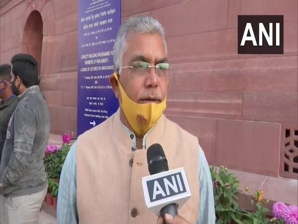 West Bengal BJP chief Dilip Ghosh speaking to ANI in New Delhi on Friday.