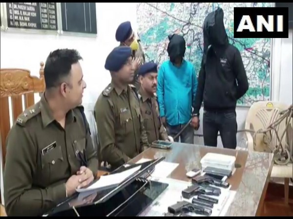 Bihar Police arrested two persons who were allegedly involved in arms smuggling.