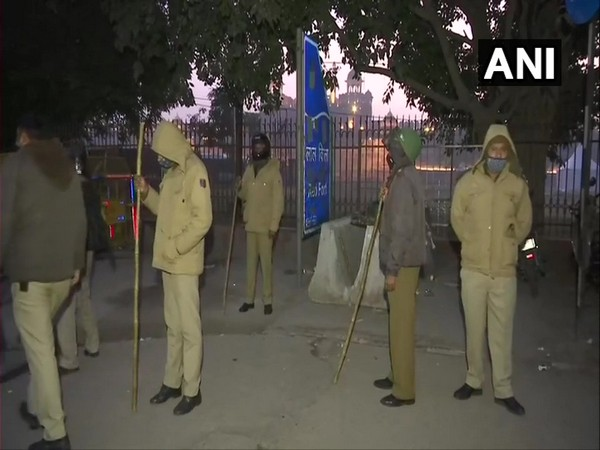 Police personnel deployed at Red Fort on Saturday. (Photo/ANI)