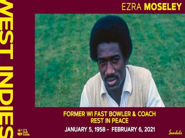 Former Windies pacer Ezra Moseley (Photo/ Windies Cricket Twitter)