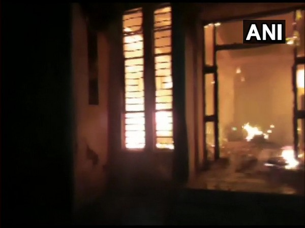 Fire breaks out at MSED office on Sunday. (ANI)