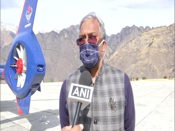 Uttarakhand Chief Minister Trivendra Singh Rawat speaking to ANI on Tuesday. Photo/ANI