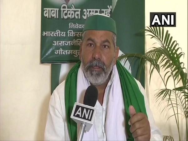 Bharatiya Kisan Union (BKU) leader Rakesh Tikait in conversation with ANI. (Photo/ANI)