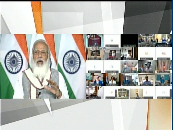 Prime Minister Narendra Modi addressing a webinar on budget implementation of the health sector.