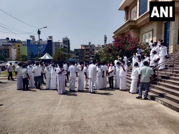 DMK, Congress walkout of Tamil Nadu Assembly during interim budget presentation (Photo/ANI)