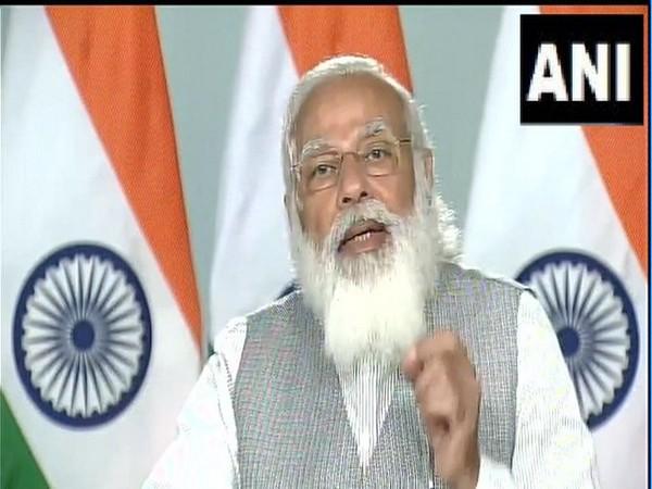 PM Modi during a video conferencing at IIT-Kharagpur. (Photo/ANI)