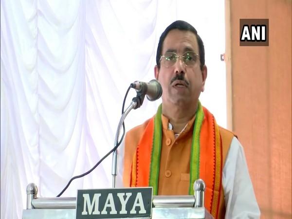 Union Minister Pralhad Joshi in Thiruvananthapuram. (Photo/ANI)