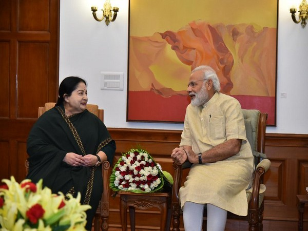 Former Tamil Nadu CM Jayalalithaa and Prime Minister Narendra Modi (Pic Credit: Narendra Modi Twitter)
