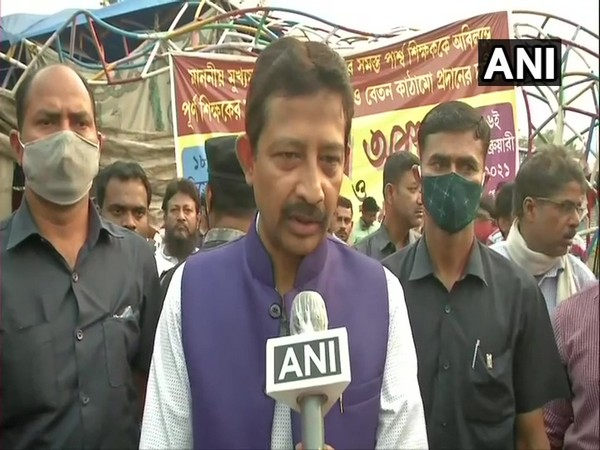 BJP leader Rajib Banerjee speaking to ANI