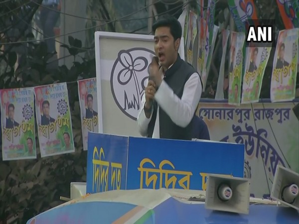 TMC MP Abhishek Banerjee at South 24 Parganas (Photo/ANI)