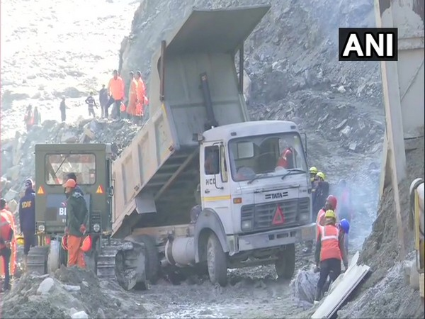 Visual from Tapovan Tunnel on Monday.
