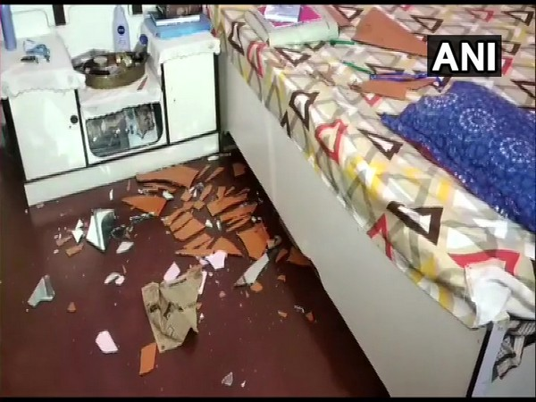 TMC MLA Nihar Ranjan Ghosh's house vandalised (Photo/ANI)