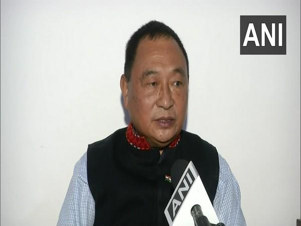 Ninong Ering, Congress MLA from Arunachal Pradesh (Photo/ANI)