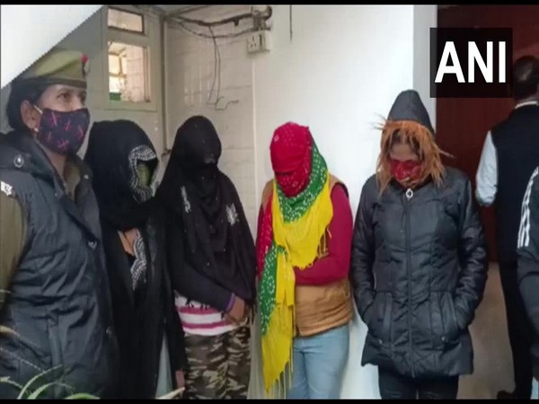 The accused who were arrested for looting customers in the garb of escort services