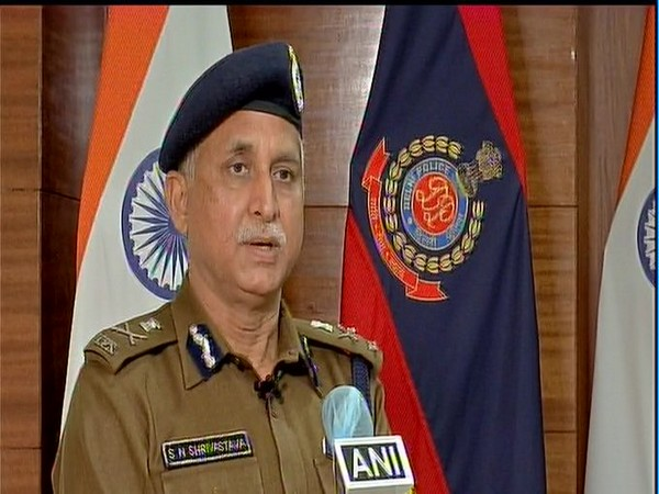 Delhi Commissioner of Police SN Shrivastava speaking to ANI.