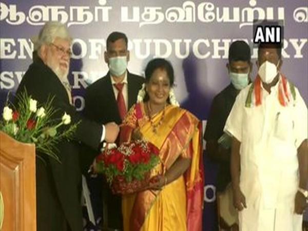 Tamilisai Soundararajan at an oath ceremony on Thursday. (Photo/ANI)