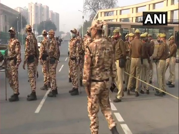 Security beefed up outside UP Assembly ahead of Budget Session. (Photo/ANI)