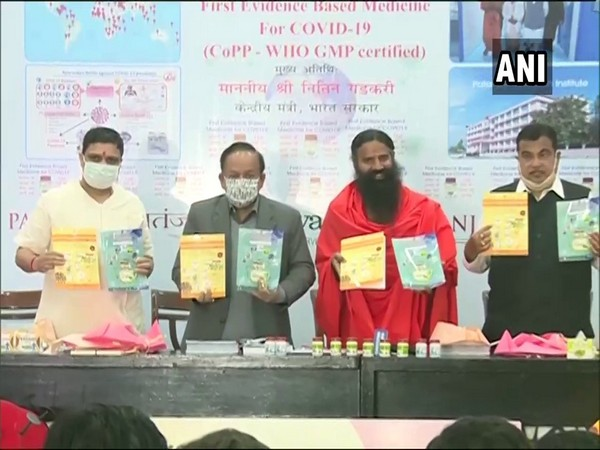Ramdev releases research paper on 'first evidence-based medicine for COVID-19' (Photo/ANI)