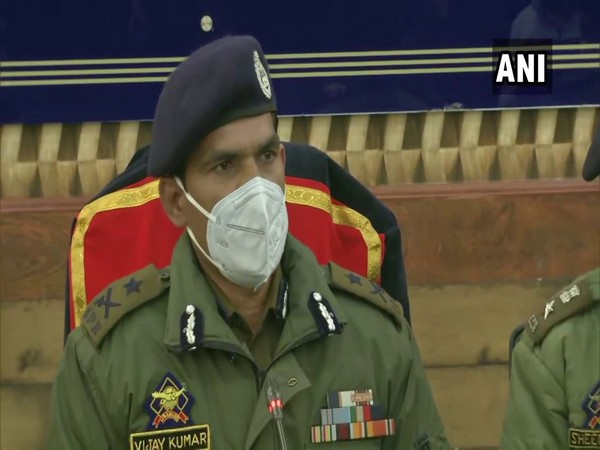 Vijay Kumar, Inspector General of Police, Kashmir (Photo/ANI)