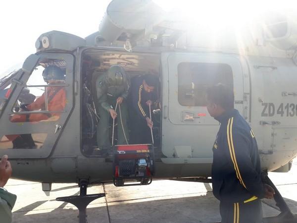 SDRF dropped QDA system for communication near the lake in Chamoli on Sunday. (Photo/ANI)