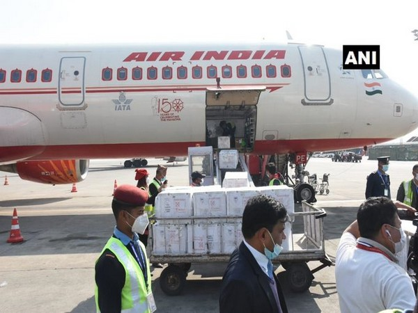 The incoming vaccines, the first of the two batches of two million doses in total, were brought via Air India's New Delhi-Kathmandu 1:30 pm flight.
