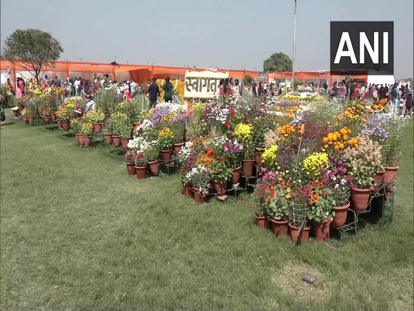 A two-day flower exhibition was organised by Horticulture Department in Agra. (Photo/ANI)