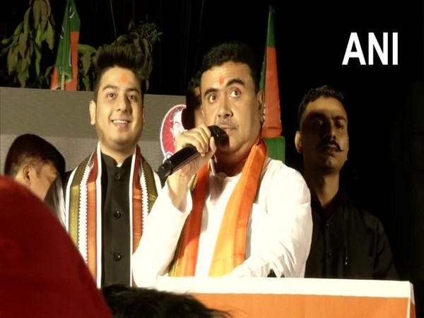 BJP leader Suvendu Adhikari at Behala (Photo/ANI)