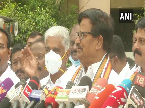 Tamil Nadu Congress Chief KS Alagiri on Sunday. (Photo/ANI)