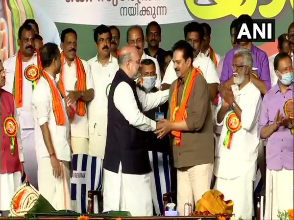 Kerala People's Party chief and actor Devan joins BJP (Photo/ANI)