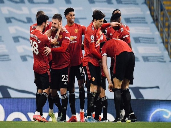 Manchester United win against City (Photo/ Victor Lindelof Twitter)