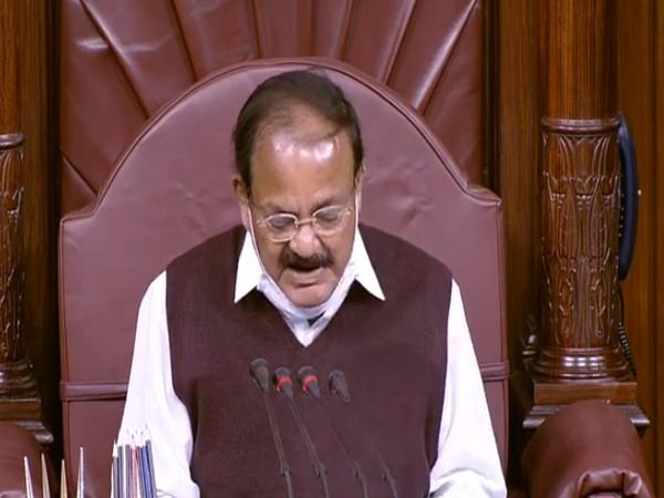Rajya Sabha Chairman M Venkaiah Naidu addressing MPs in the Rajya Sabha. (Photo/ANI)