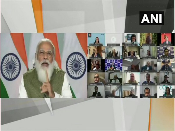 PM Narendra Modi at webinar on the implementation of Budget in the financial services sector (Photo/ANI)