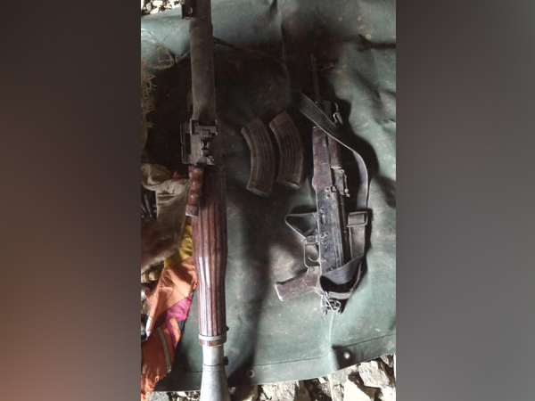 Huge cache of arms and ammunition was recovered from a terrorist hideout in Jammu and Kashmir's Reasi district on Friday. [Photo/ANI]