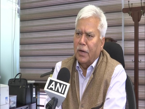 Empowered Group Chairman RS Sharma speaking to ANI on Friday. (Photo/ANI)