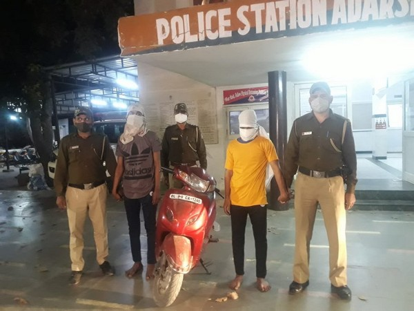 Two persons were arrested in Adarsh Nagar snatching, murder case on Sunday. [Photo/ANI]
