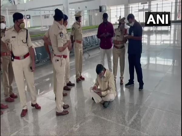 TDP leader and former Chief Minister N Chandrababu Naidu sat down in protest at Tirupati airport.