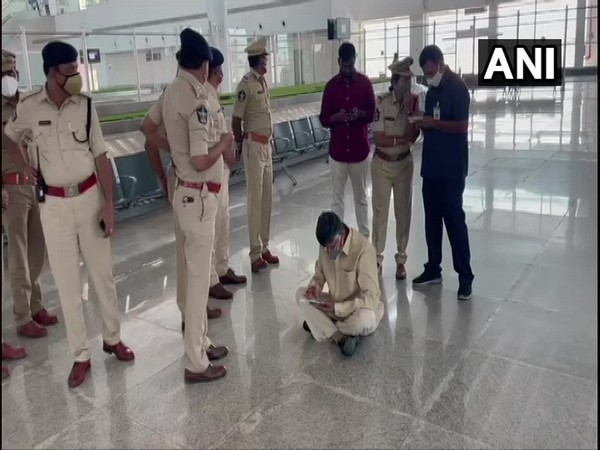 TDP leader and former Chief Minister N Chandrababu Naidu sat down in protest at Tirupati airport.