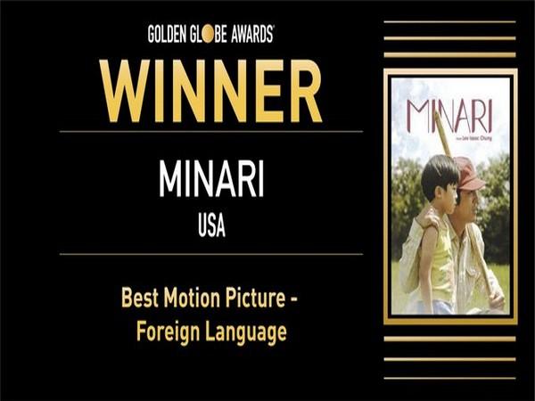 Minari wins Golden Globe (Photo/ Golden Globe Awards Twitter)